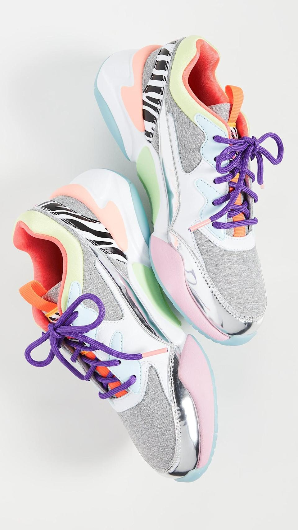 "<p><a href=""https://www.popsugar.com/buy/PUMA-Nova-Sophia-Webster-Sneakers-520368?p_name=PUMA%20Nova%20Sophia%20Webster%20Sneakers&retailer=shopbop.com&pid=520368&price=110&evar1=fab%3Aus&evar9=44311634&evar98=https%3A%2F%2Fwww.popsugar.com%2Ffashion%2Fphoto-gallery%2F44311634%2Fimage%2F46920955%2FPUMA-Nova-Sophia-Webster-Sneakers&list1=shopping%2Cshoes%2Csneakers%2Choliday%2Cgift%20guide%2Ceditors%20pick%2Cfashion%20gifts%2Cgifts%20for%20women&prop13=api&pdata=1"" class=""link rapid-noclick-resp"" rel=""nofollow noopener"" target=""_blank"" data-ylk=""slk:PUMA Nova Sophia Webster Sneakers"">PUMA Nova Sophia Webster Sneakers </a> ($110)</p> <p>""I'm a sucker for color, so the moment I laid eyes on these cool Puma sneakers, I know I had to have them. I would wear them with jeans and a white tee so that they could be the start of my outfit."" - Macy Cate Williams, editor, Shop and Must Have</p>"