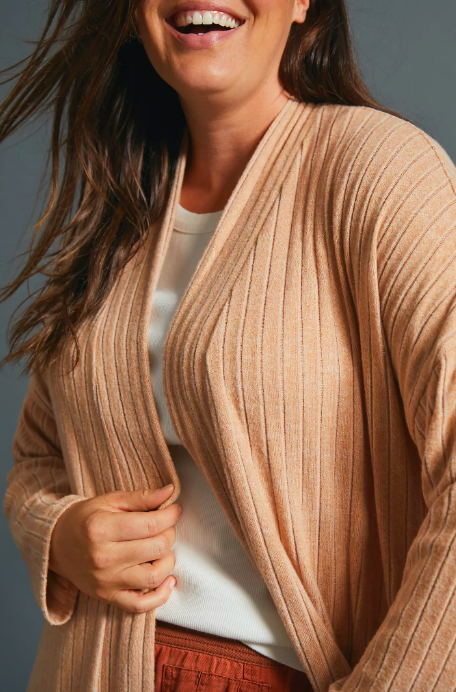 Montana Ribbed Cardigan. Image via Anthropologie.