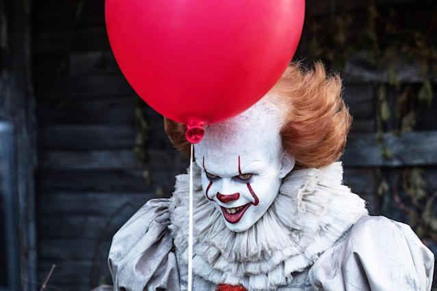 Pennywise (Bill Skarsgård) will return in <em>It: Chapter Two</em>. (Photo: Warner Bros.)