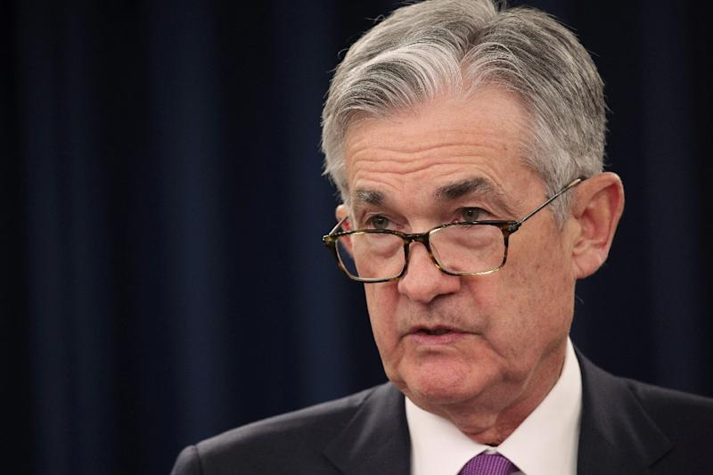 US Federal Reserve Chair Jerome Powell is seen in Washington in January 2019