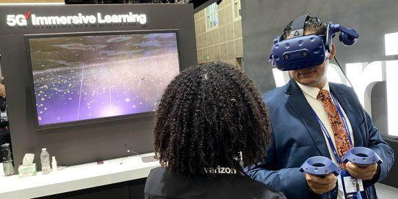 Verizon's booth at MWC Los Angeles offered more concrete examples of how 5G will be used than any other exhibitor at the show.