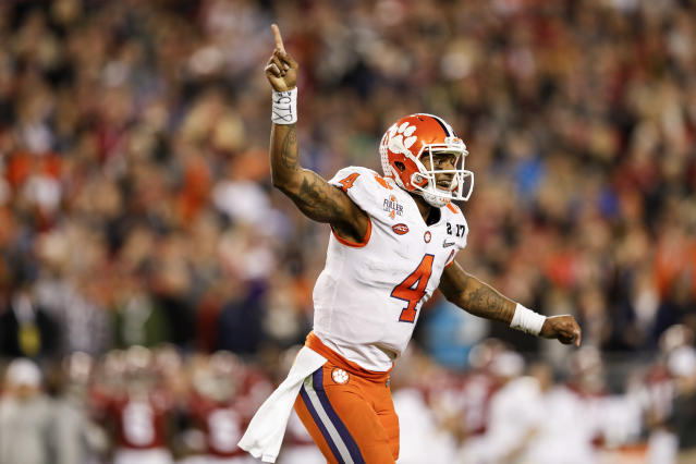 Clemson QB Deshaun Watson became one of the more successful college quarternacls in recent college history when he beat Alabama in the 2016 national title game. (Photo by Don Juan Moore/Getty Images)
