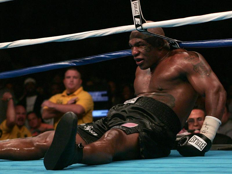 In his final bout, former heavyweight champion Mike Tyson was defeated by Kevin McBride: AFP via Getty Images