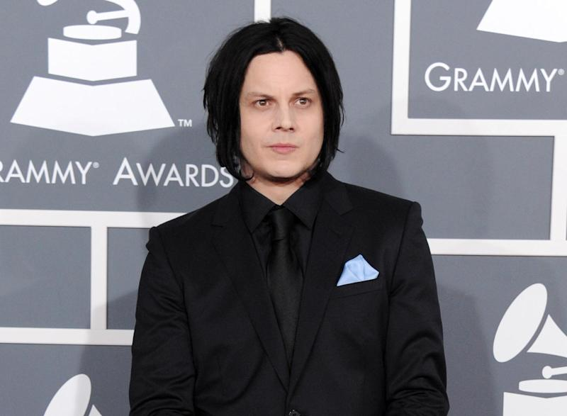 """FILE - This Feb. 10, 2013 file photo shows musician Jack White at the 55th annual Grammy Awards in Los Angeles. White is going direct to vinyl with the first live performance of a song off his upcoming album on Record Store Day. Fans will get to see him perform the title track from """"Lazaretto"""" on Saturday morning, which will be recorded and pressed into a limited edition vinyl record that afternoon. (Photo by Jordan Strauss/Invision/AP, File)"""