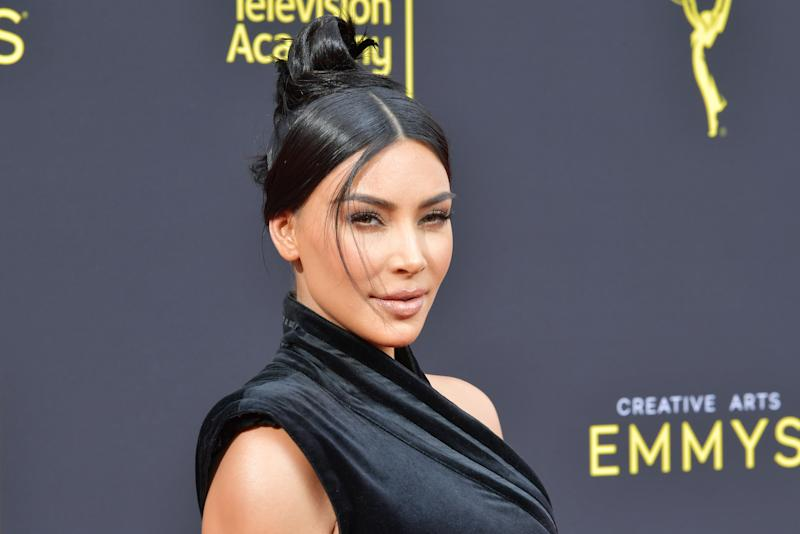 LOS ANGELES, CALIFORNIA - SEPTEMBER 14: Kim Kardashian West attends the 2019 Creative Arts Emmy Awards on September 14, 2019 in Los Angeles, California. (Photo by Amy Sussman/Getty Images)