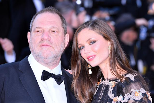 Harvey Weinstein and Chapman at the Cannes Film Festival in 2015. (Photo: Mustafa Yalcin/Anadolu Agency/Getty Images)
