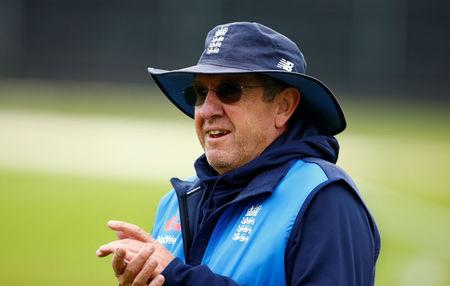 FILE PHOTO: Cricket - England Nets - Brightside Ground, Bristol, Britain - September 23, 2017   Englan head coach Trevor Bayliss during nets   Action Images via Reuters/Peter Cziborra