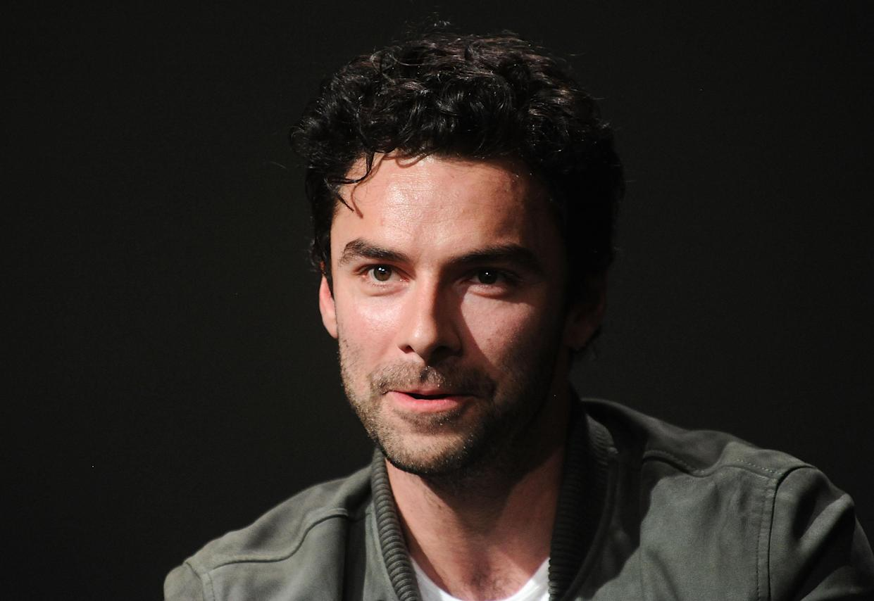 NEW YORK, NY - JUNE 18:  Actor Aidan Turner discusses his new show