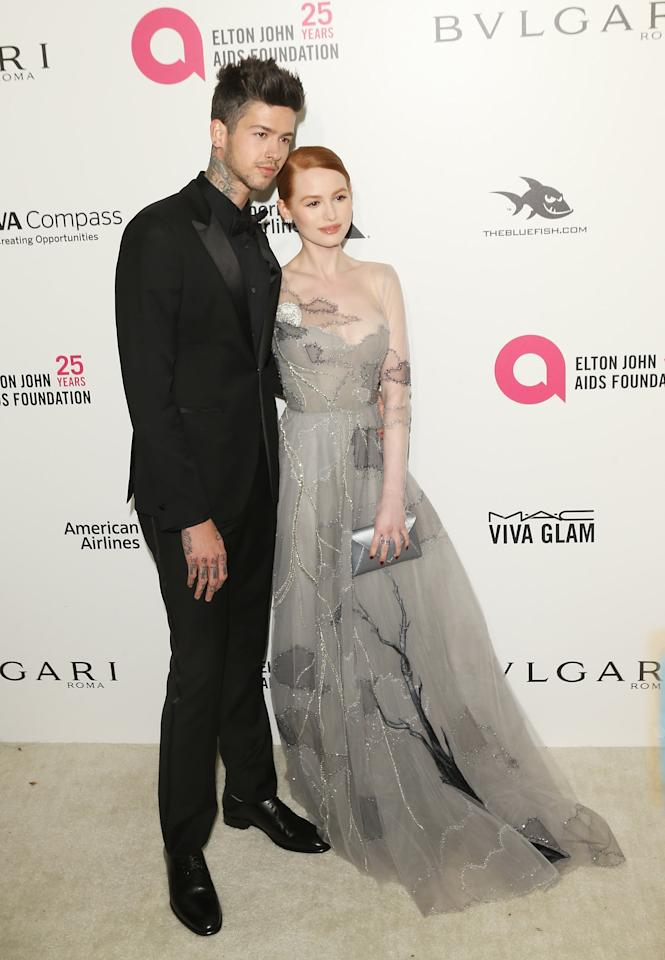 <p>The couple made a much more formal appearance at Elton John's annual Oscars viewing party about a year into their relationship.</p>