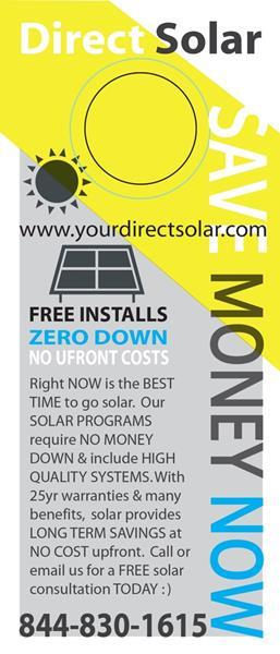 DIRECT SOLAR SAVE MONEY NOW:SING June 21