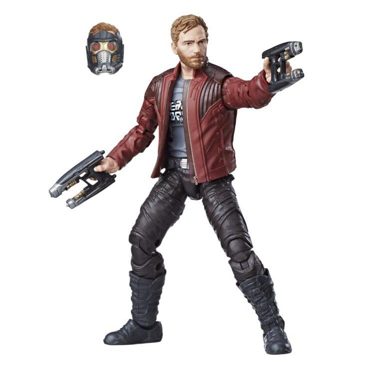 Switch between the helmeted Peter Quill or the dreamy Chris Pratt sculpt. (Courtesy of Hasbro)