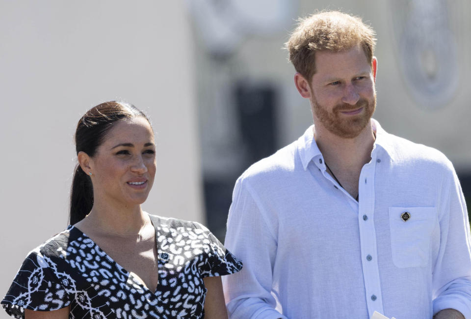 Prince Harry and Duchess Meghan in Cape Town, South Africa