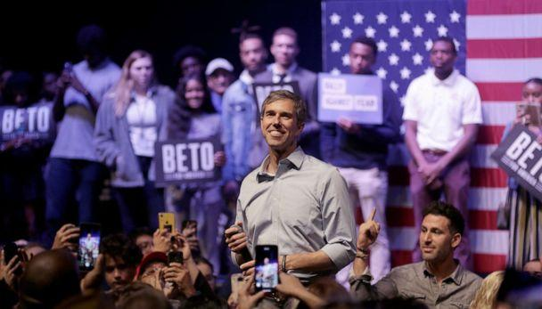 PHOTO: Democratic presidential candidate, former Rep. Beto O'Rourke (D-TX) speaks during a campaign rally, Oct. 17, 2019, in Grand Prairie, Texas. (Ron Jenkins/Getty Images, FILE)