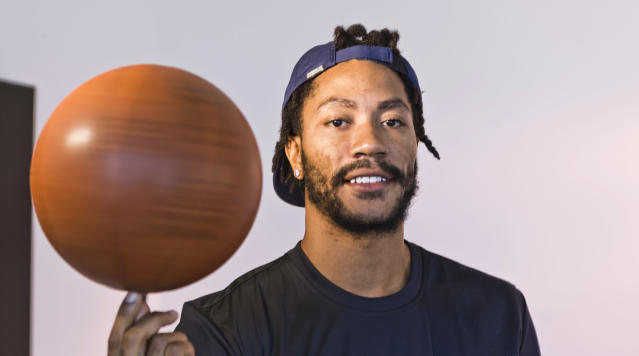 "<a class=""link rapid-noclick-resp"" href=""/nba/players/4387/"" data-ylk=""slk:Derrick Rose"">Derrick Rose</a> gets another chance. (AP)"