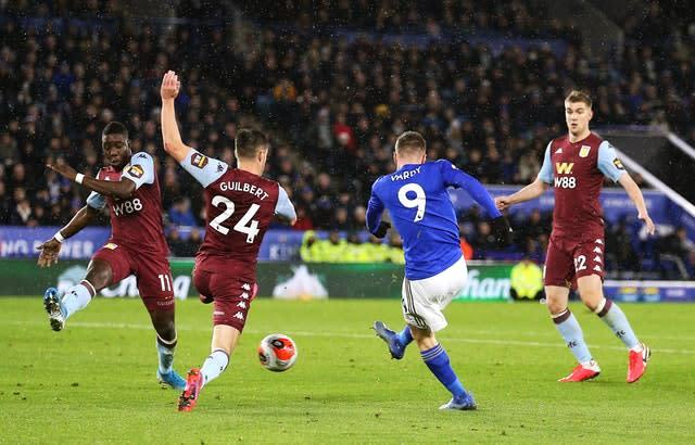 Villa played the last Premier League at Leicester on March 9. (Nigel French/PA)