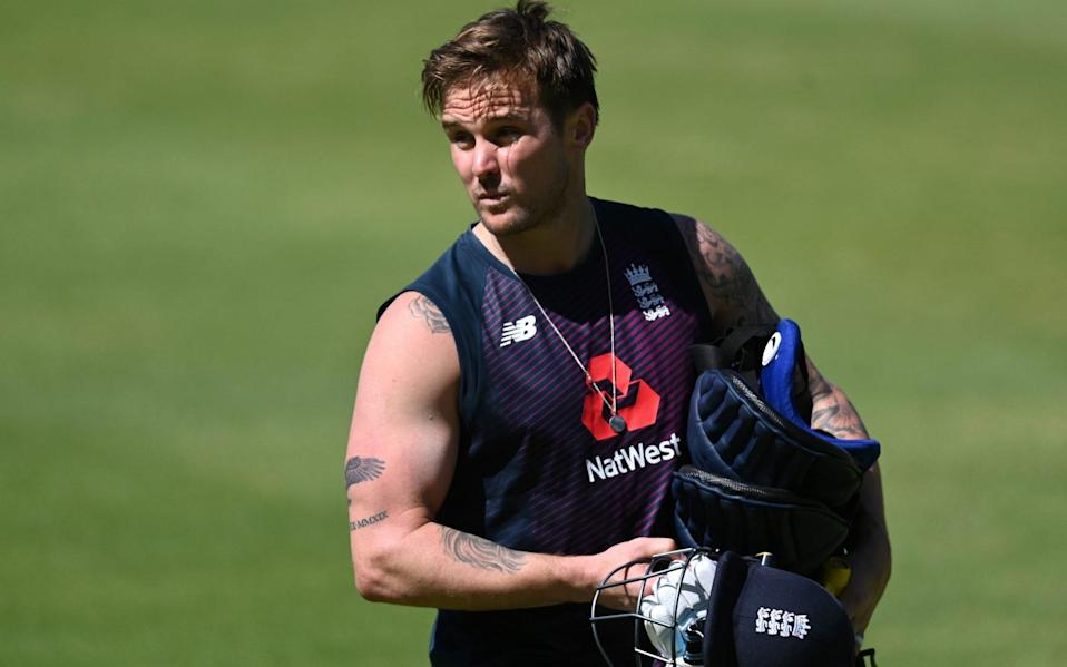 Jason Roy in the nets - GETTY IMAGES