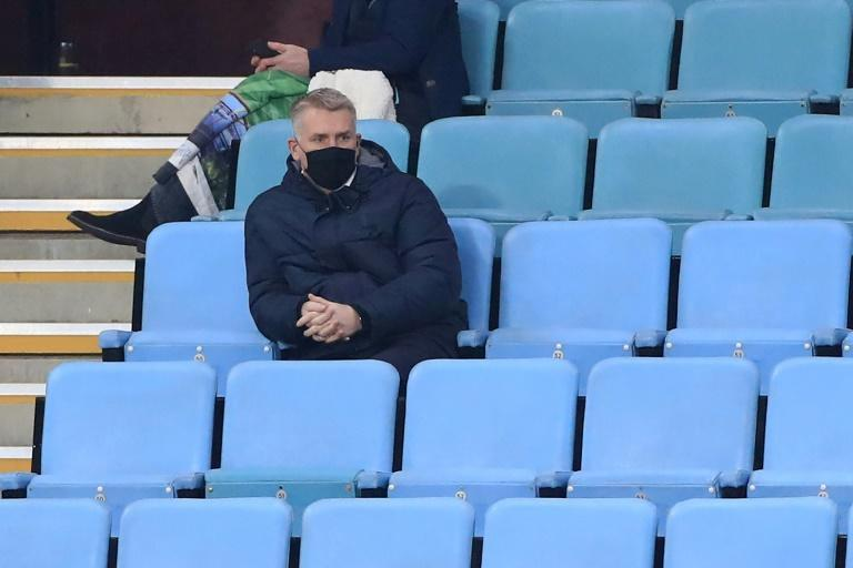 Touchline ban - Aston Villa manager Dean Smith watches the stands during his side's match against Newcastle on Saturday