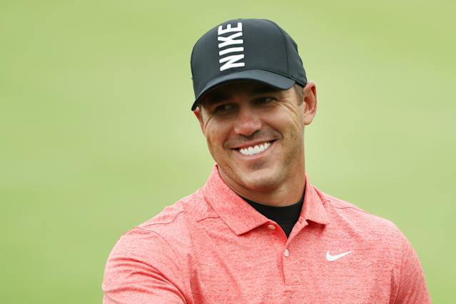 """<h1 class=""""title"""">PGA Championship - Preview Day 2</h1> <div class=""""caption""""> BETHPAGE, NEW YORK - MAY 14: <a class=""""link rapid-noclick-resp"""" href=""""/pga/players/12875/"""" data-ylk=""""slk:Brooks Koepka"""">Brooks Koepka</a> of the United States smiles during a practice round prior to the 2019 PGA Championship at the Bethpage Black course on May 14, 2019 in Bethpage, New York. (Photo by Patrick Smith/Getty Images) </div> <cite class=""""credit""""><a class=""""link rapid-noclick-resp"""" href=""""/ncaab/players/139918/"""" data-ylk=""""slk:Patrick Smith"""">Patrick Smith</a></cite>"""