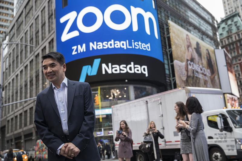 """(Bloomberg) -- Eric Yuan is a billionaire on the move.The Zoom Video Communications Inc. founder has jumped into the ranks of the world's richest people as shares of the company soared 180% since their market debut in April. That surge means Yuan joins the 500-member Bloomberg Billionaires Index, with a net worth of about $5.3 billion.""""We're just getting started,"""" Yuan, 49, said in a phone interview. """"And we're going to keep working harder.""""Zoom is a rare breed: a recently listed U.S. tech company that actually makes money. Last week, the video conferencing firm reported a modest fiscal first-quarter profit and revenue that beat Wall Street estimates, results that Oppenheimer & Co. analyst Ittai Kidron described as a """"slam dunk.""""Shares of Zoom closed Thursday at $100.95, giving the San Jose, California-based company a market value of $27.5 billion.That's """"astronomical,"""" said Summit Insights Group analyst Jonathan Kees, who has a sell rating on the stock and a $45 price target. """"Investors are being overzealous.""""Zoom counts Uber Technologies Inc. and Delta Air Lines Inc. as customers and vies with Microsoft Corp.'s Skype in the meeting-software sector.Yuan joins Ken and Michael Xie, the brothers behind cybersecurity company Fortinet Inc., as Chinese immigrants who became Silicon Valley billionaires. He and his family sold shares worth $57 million at Zoom's initial public offering on April 17, when his stake was valued at $1.9 billion, below the threshold for inclusion in the Bloomberg wealth index, which currently stands at about $4 billion.He said he eventually plans to devote part of his wealth to philanthropy, citing education and homelessness as priorities, but for now he's focused on growing the company he founded eight years ago.To contact the reporter on this story: Ben Stupples in London at bstupples@bloomberg.netTo contact the editors responsible for this story: Pierre Paulden at ppaulden@bloomberg.net, Peter Eichenbaum, Steven CrabillFor more articles like t"""