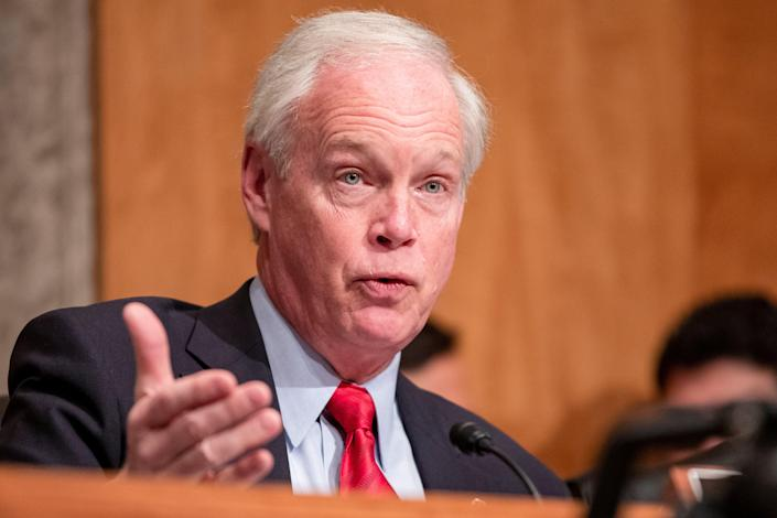 Senator Ron Johnson of Wisconsin apparently still believes 'fake Trump supporters' provoked the Capitol riot. (Getty Images)