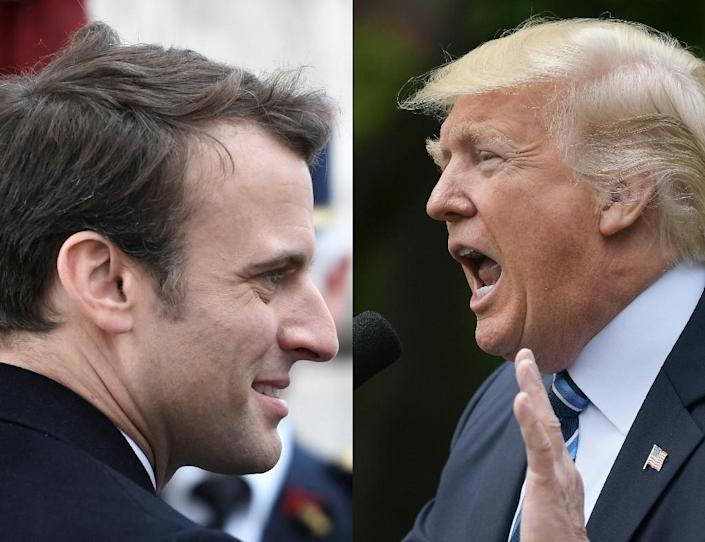 """Newly-elected French President Emmanuel Macron is to meet Donald Trump for a """"lengthy lunch"""" in Brussels this month (AFP Photo/STEPHANE DE SAKUTIN, MANDEL NGAN)"""