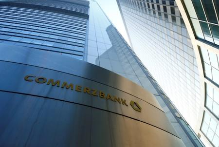 FILE PHOTO: The headquarters of the Commerzbank are pictured before the bank's annual news conference in Frankfurt