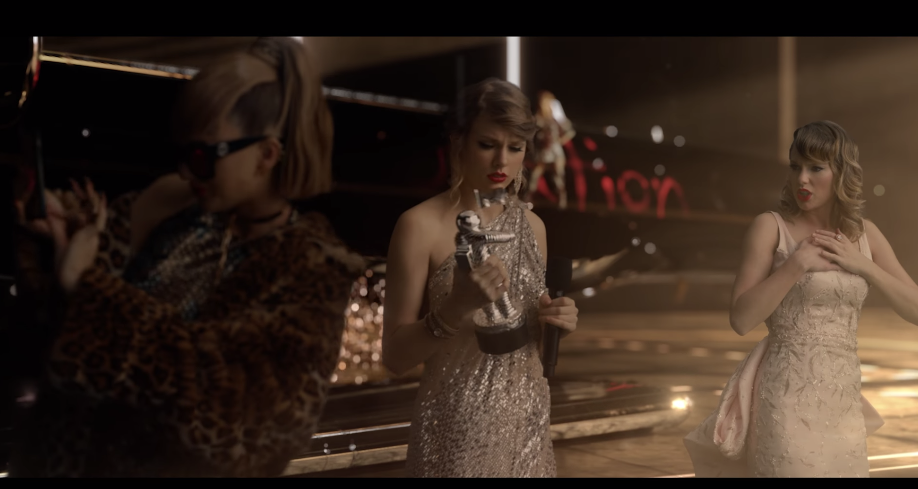 "VMAs 2009 Taylor Swift appears in the ""Look What You Made Me Do"" video. (Photo: YouTube)"