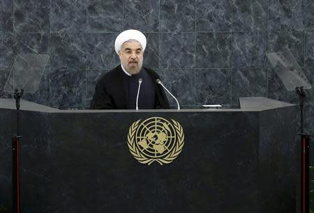 Iran's President Hassan Rouhani addresses the 68th United Nations General Assembly at UN headquarters in New York
