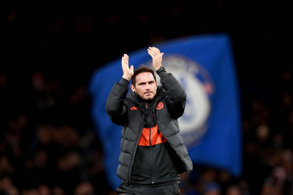 <p>In charge: Frank Lampard</p> (AP)