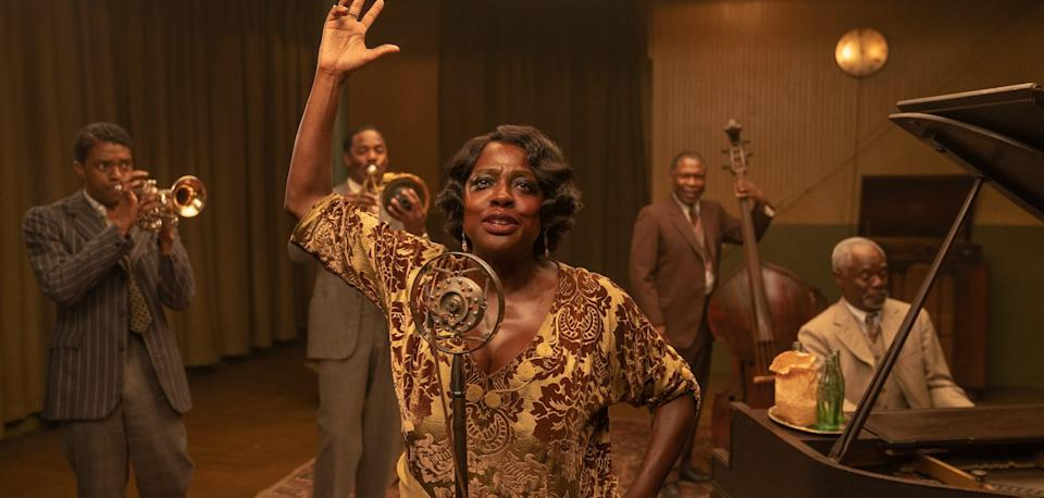 Viola Davis sings in Ma Rainey's Black Bottom (Netflix)
