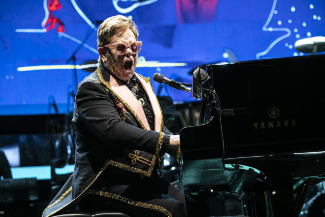 Elton John is currently on his Farewell Yellow Brick Road world tour (Credit: Getty Images)