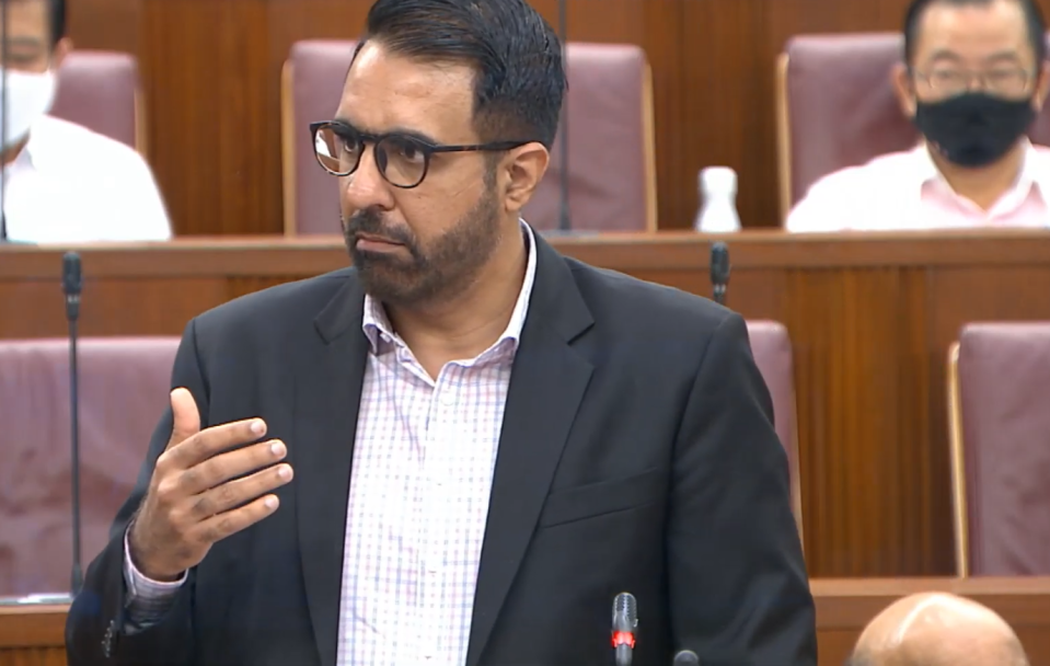 Leader of the Opposition Pritam Singh addresses Parliament on Tuesday, 2 February 2021. (PHOTO: Ministry of Communications and Information YouTube channel)
