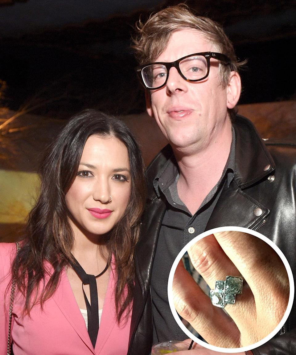 """<p>The singer, who recently celebrated her 34th birthday, announced her engagement to Black Keys drummer Patrick Carney in a sweet <a rel=""""nofollow noopener"""" href=""""https://www.instagram.com/p/BWF-sJSgGix/?taken-by=michellebranch"""" target=""""_blank"""" data-ylk=""""slk:Instagram post"""" class=""""link rapid-noclick-resp"""">Instagram post</a> that showed off her dazzling ring. """"Thank you for all the birthday love and wishes,"""" Branch wrote. """"Last night, right before I blew out my candles, @officerpatrickcarney asked me to marry him and then I had nothing left to wish for. 34 might be the best year yet.""""</p>"""