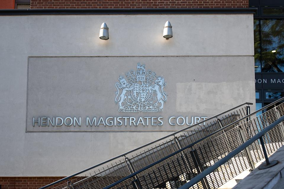 Hendon Magistrates' Court in London, where 5 climate change protesters are due to appear following the recent Extinction Rebellion protests in London. PA Photo. Picture date: Tuesday September 17, 2019. See PA story COURTS ExtinctionRebellion. Photo credit should read: Aaron Chown/PA Wire