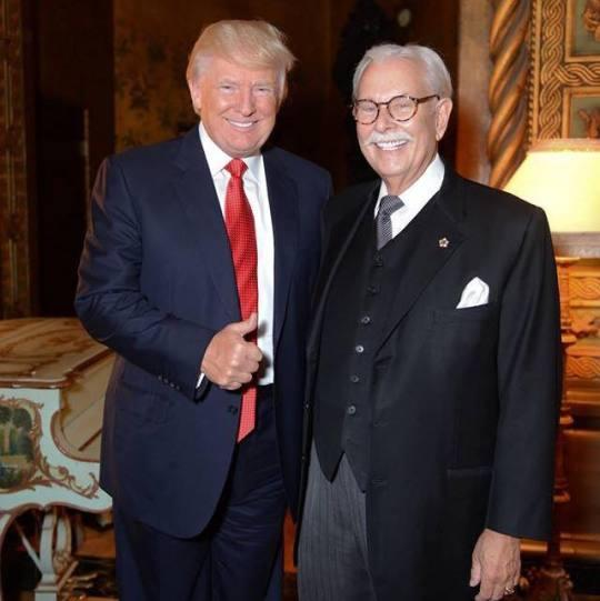 Anthony Senecal smiles alongside longtime former boss Donald Trump. (Photo via Facebook)