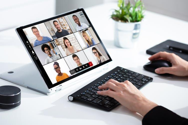Online Video Conference Call. Work From Home Meeting