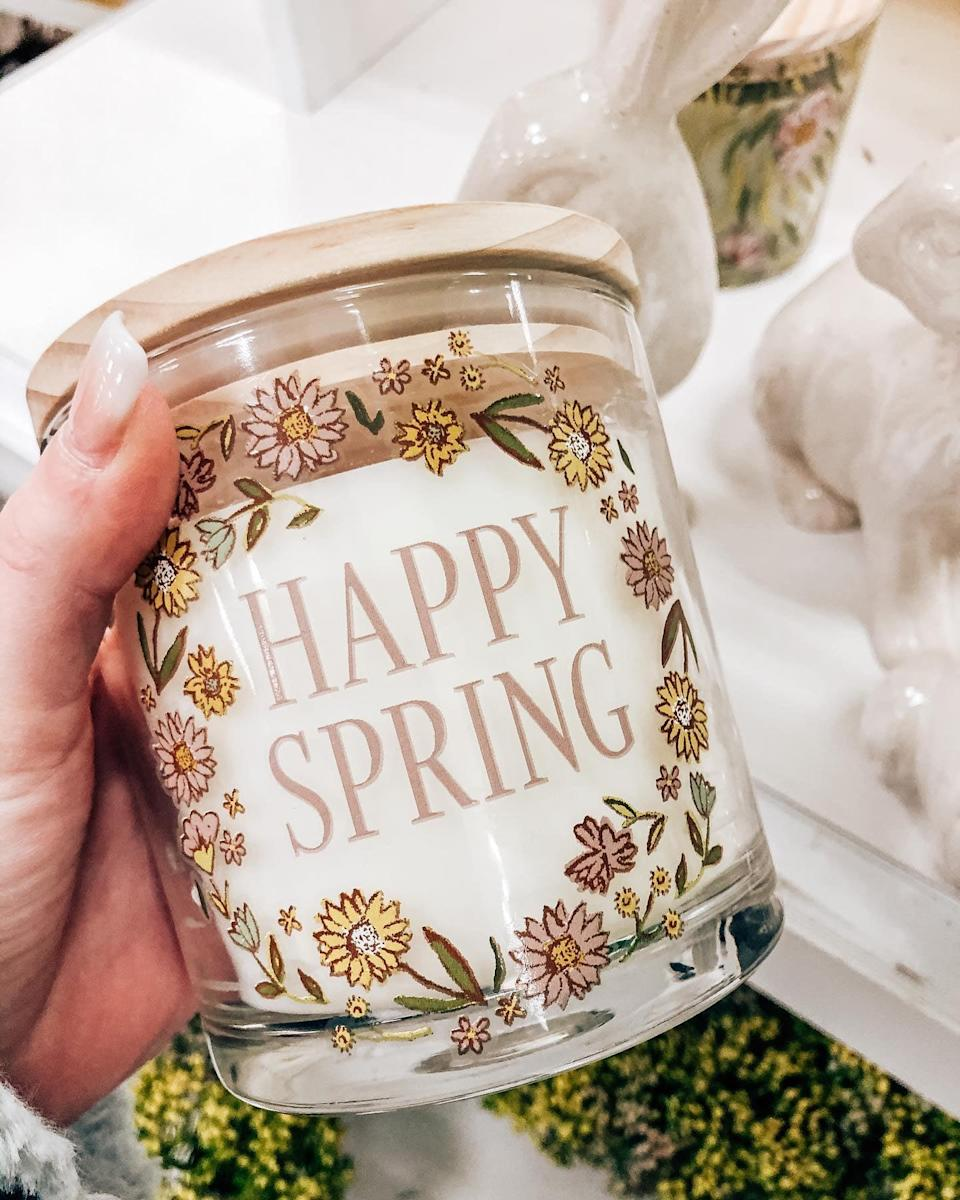 <p>Fill your home with scents of spring when you light this supercute <span>Sunshine Skies Candle</span> ($10).</p>