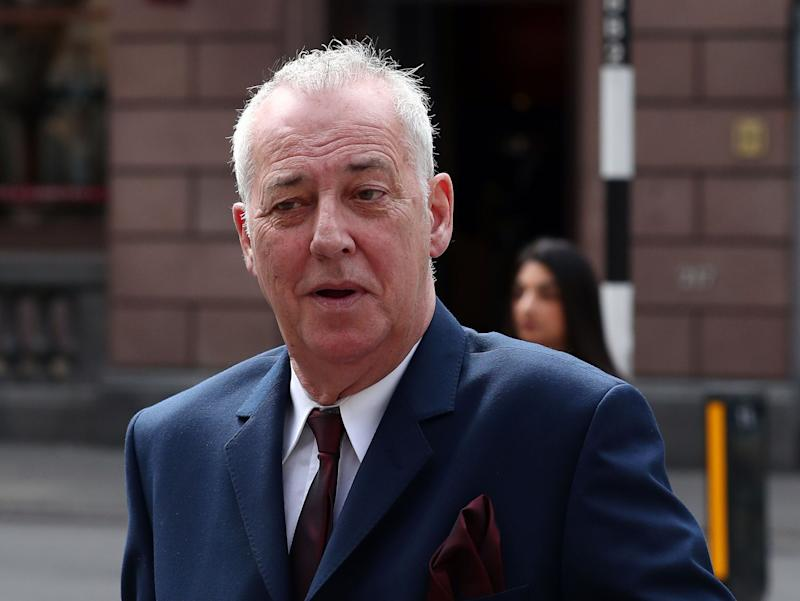 Michael Barrymore arrives at the High Court on London, where a judge is to decide the amount of compensation to be paid to the entertainer by Essex Police.
