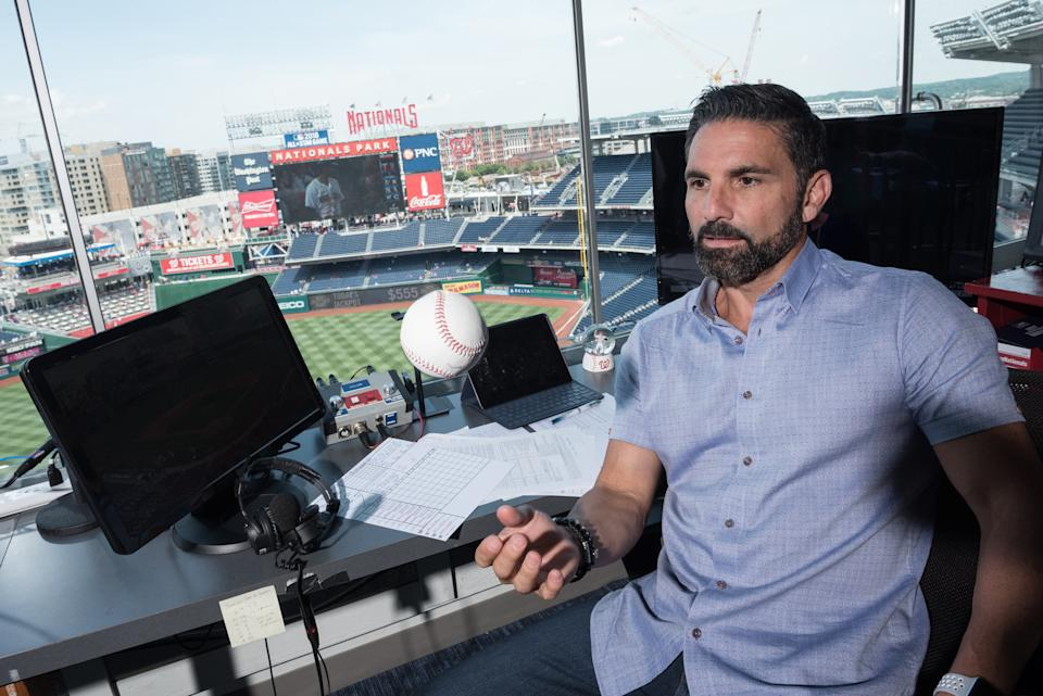 F.P. Santangelo, color analyst for the Washington Nationals