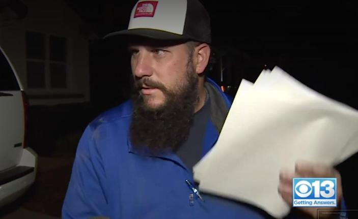A Trump supporting man filed a restraining order against his neighbours who taunted him over Joe Biden's election win. (CBS13)