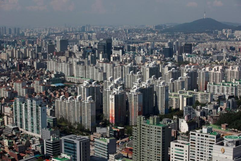 FILE PHOTO: Part of Gangnam area is seen in Seoul
