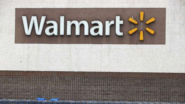 PHOTO: Shopping carts sit in front of a Walmart store on Sept. 03, 2020, in Richmond, Calif. (Justin Sullivan/Getty Images)