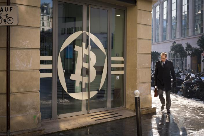 Bit coin House in Paris, devoted to crypto currency. (Photo by: BSIP/Universal Images Group via Getty Images)