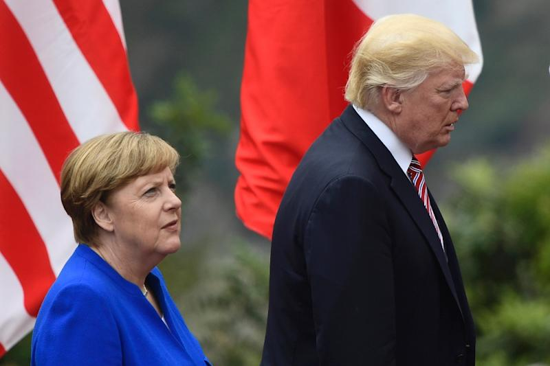 US President Donald Trump, seen here at last week's G7 summit in Italy, has disappointed European leaders by failing to endorse the Paris climate change accord or NATO's mutual defense pledge (AFP Photo/Miguel MEDINA)