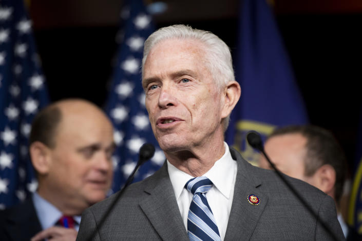 Rep. Bill Johnson, R-Ohio, speaks during a press conference in the Capitol on Feb. 11, 2020. (Bill Clark/CQ-Roll Call, Inc via Getty Images)