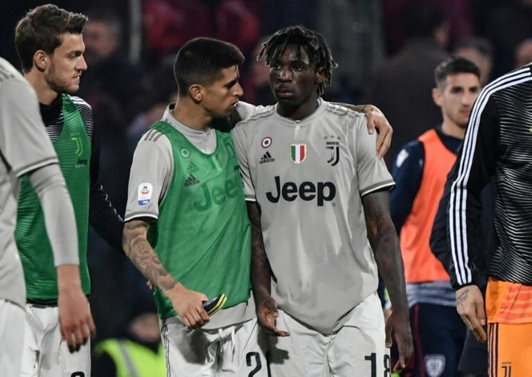 Kean had objects thrown at him while celebrating his goal