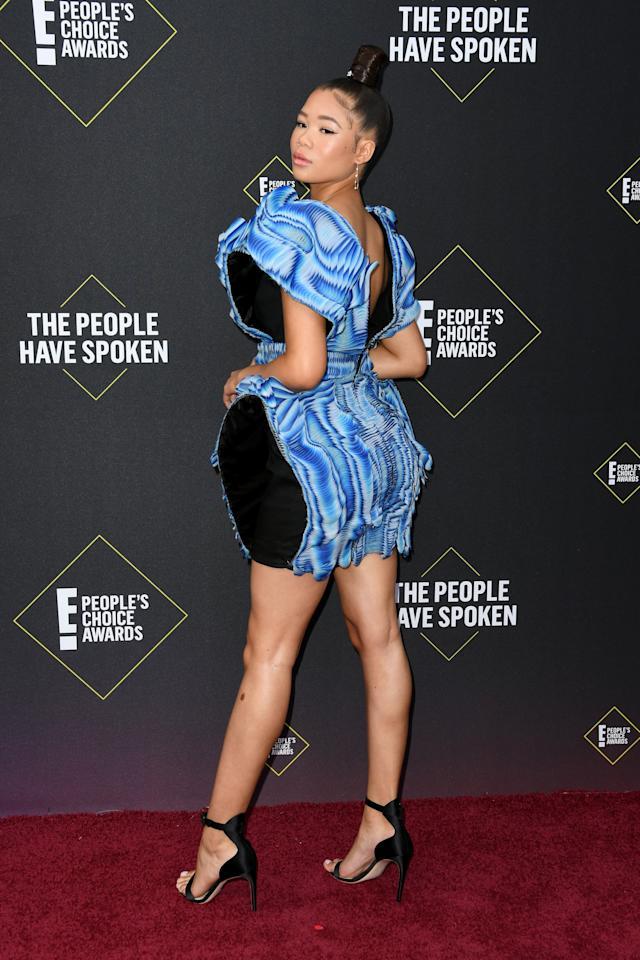 <p>Storm Reid's 2019 People's Choice Awards dress was stunning from every angle.</p>