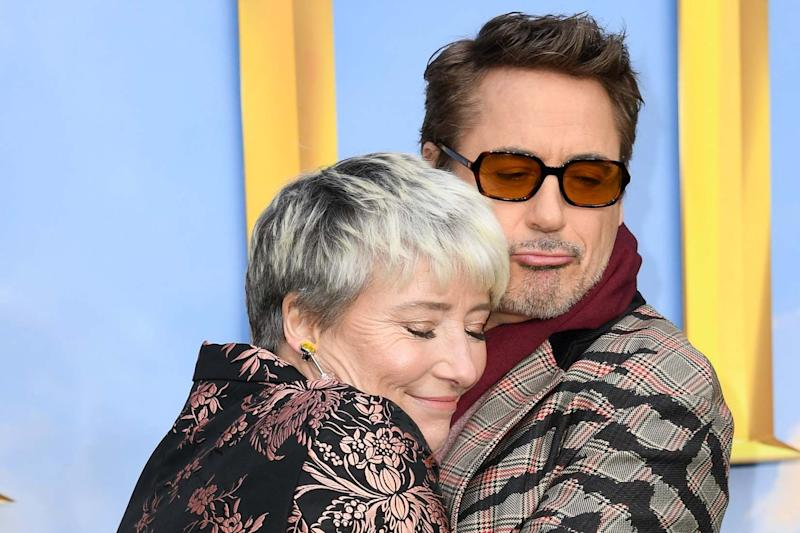 """Emma Thompson and Robert Downey Jr attend the """"Dolittle"""" special screening: Getty Images"""