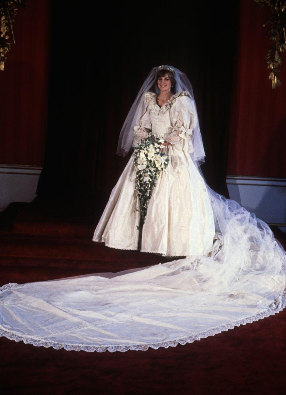 <p>Princess Diana on her wedding day in July 1981</p>