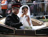 """<p>It seems totally normal to get married on a weekend to us common folk, but it's <a href=""""https://www.harpersbazaar.com/celebrity/latest/a14443228/prince-harry-meghan-markle-wedding-date-royal-tradition/"""" rel=""""nofollow noopener"""" target=""""_blank"""" data-ylk=""""slk:royal tradition"""" class=""""link rapid-noclick-resp"""">royal tradition</a> to get married during the week. For context, Kate Middleton and Prince William were married on a Friday, Princess Diana and Prince Charles were married on a Wednesday, and Queen Elizabeth II and Prince Philip were married on a Thursday.<br></p>"""